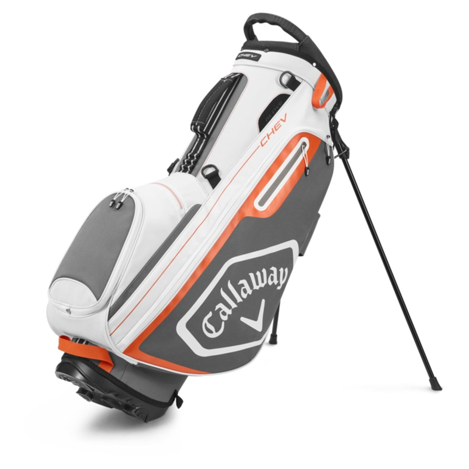 Callaway Golf 2020 Chev Stand Bag-White-Charcoal-Orange