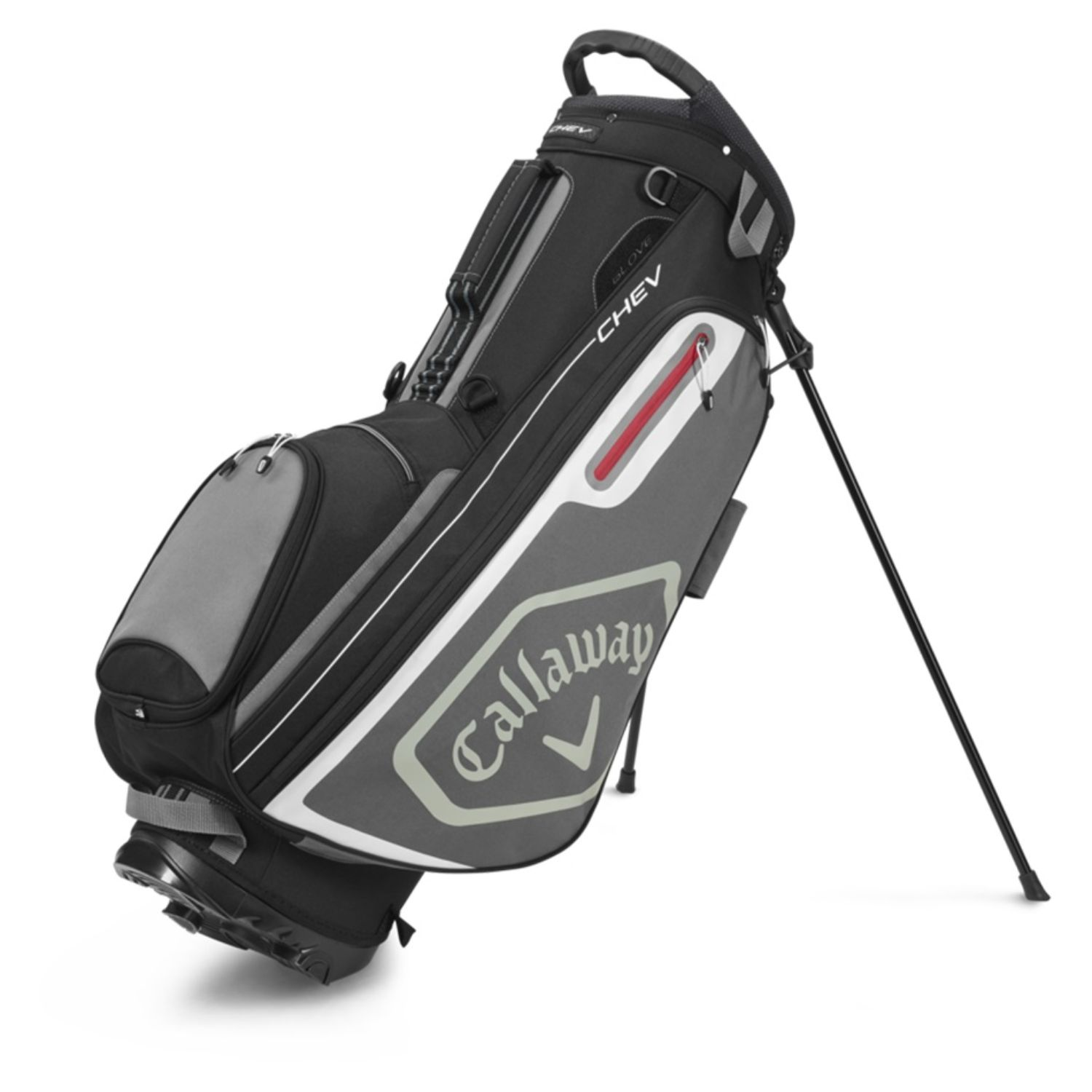 Callaway Golf 2020 Chev Stand Bag-Black-Charcoal-White