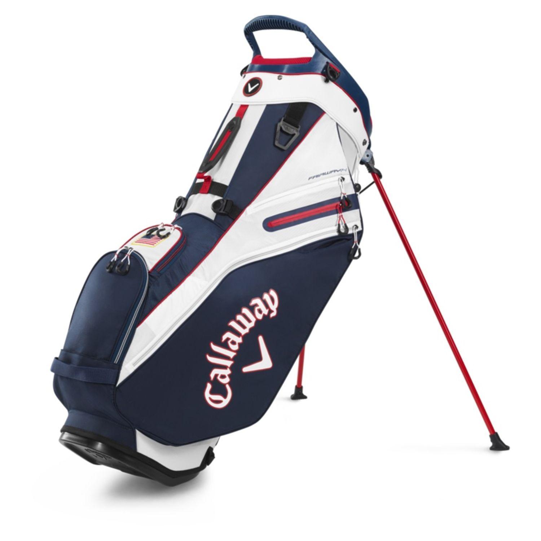 Callaway Golf 2020 Fairway 14 Stand Bag-Navy-White-USA Flag