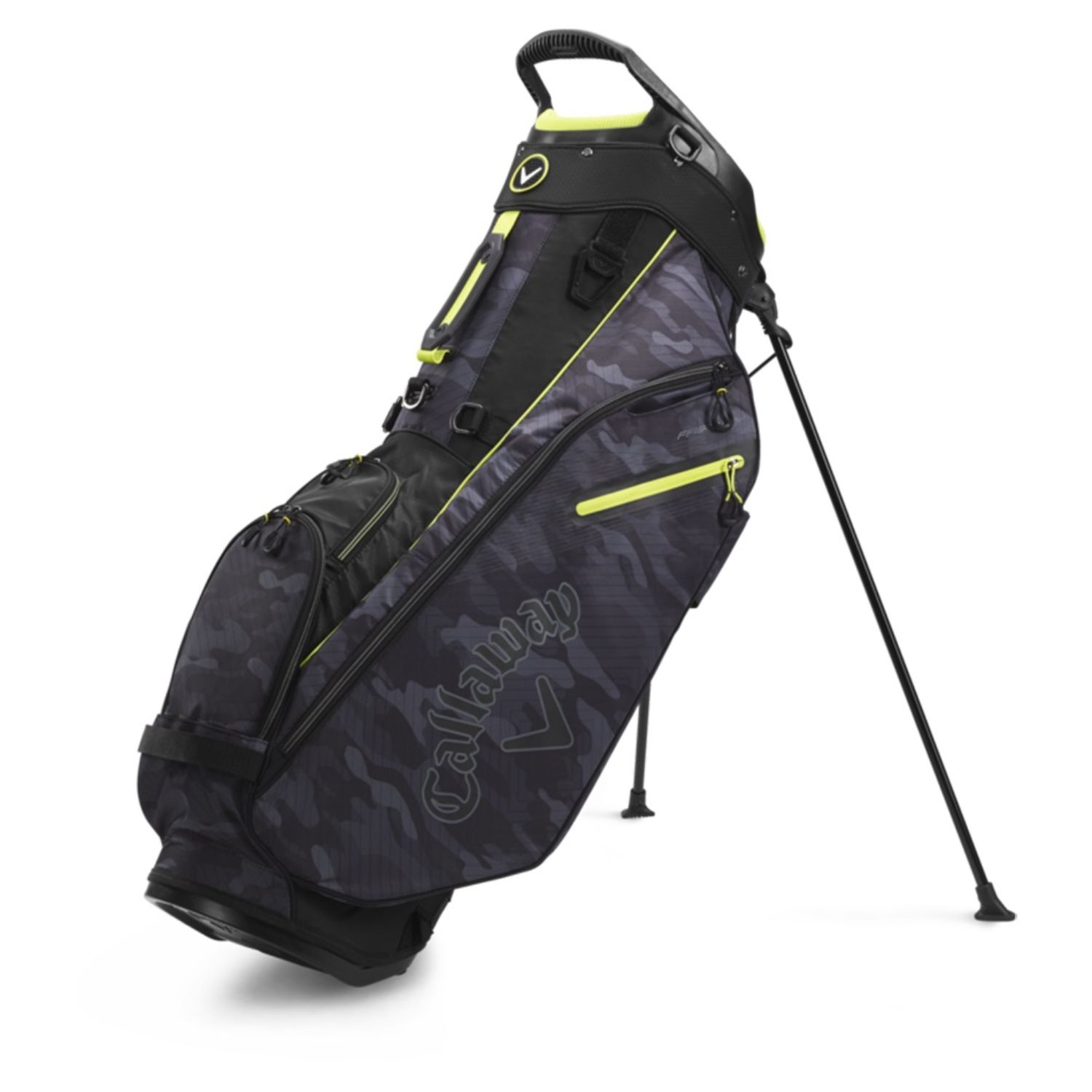 Callaway Golf 2020 Fairway Stand Bag-Black Camo-White-Yellow