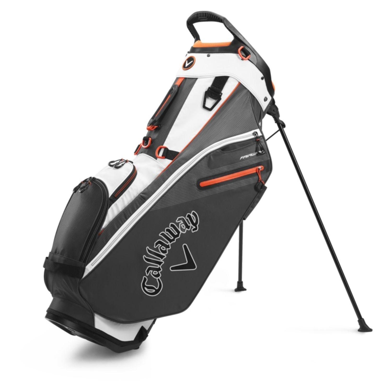 Callaway Golf 2020 Fairway Stand Bag-White-Charcoal-Orange