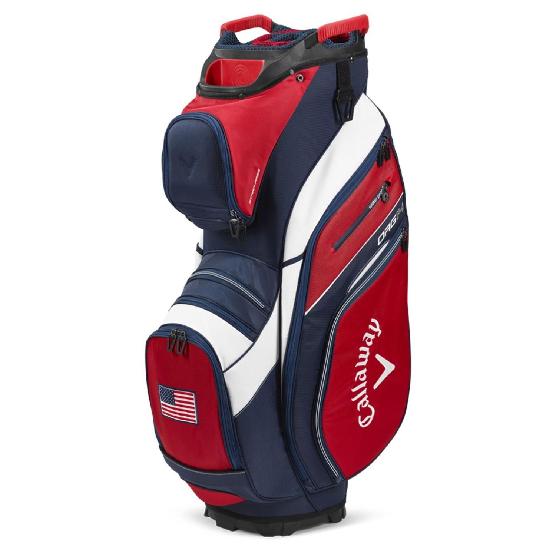 Callaway Golf 2020 ORG 14 Cart Bag-Red-Navy-USA Flag