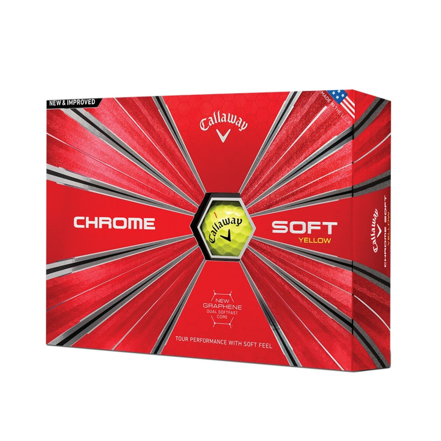 Callaway Chrome Soft Triple Track Golf Balls-Dozen-Yellow