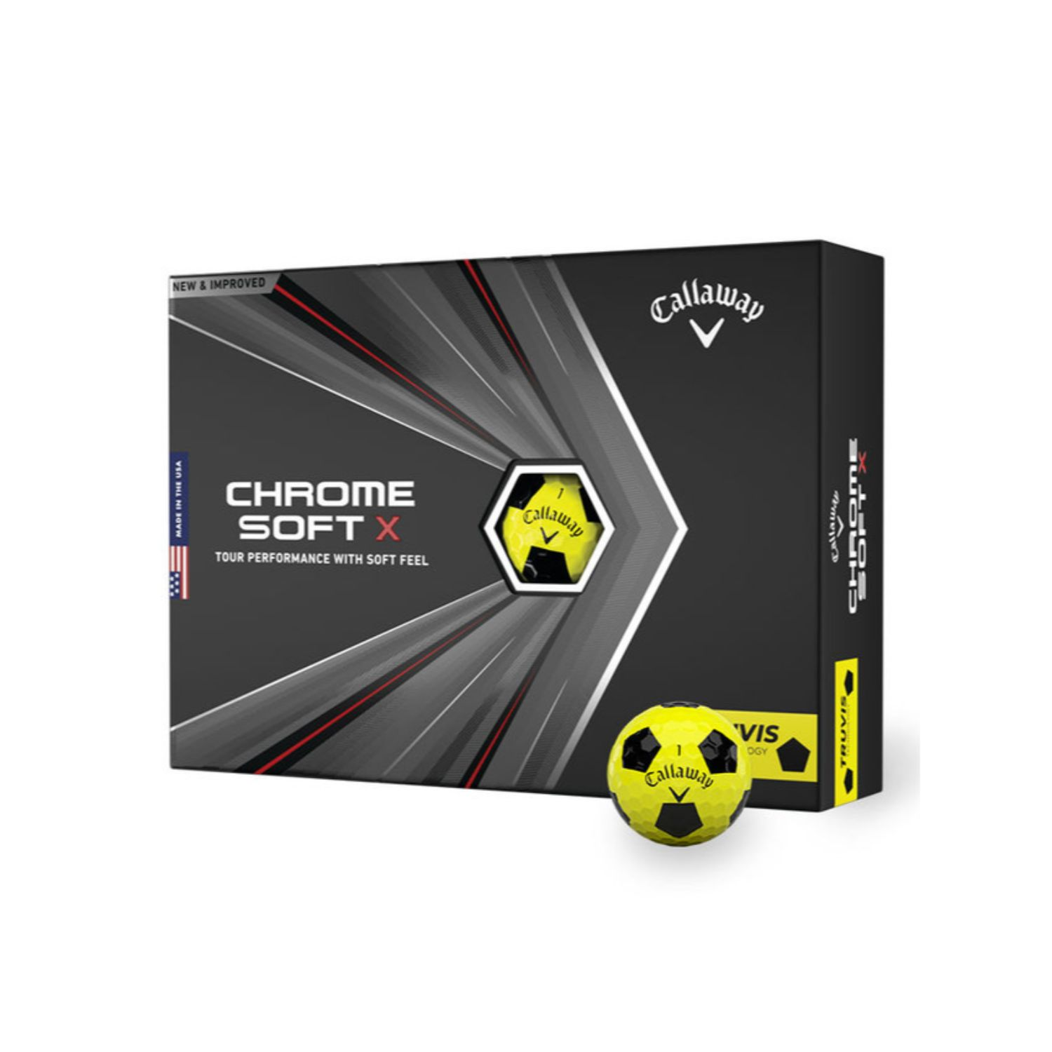 Callaway Chrome Soft X 2020 Golf Balls Truvis Yellow-Black