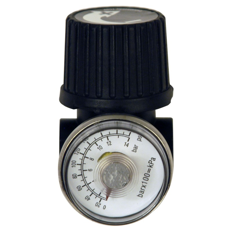 "Air Compressor Accessories 0.25"" Regulator and Gauge"