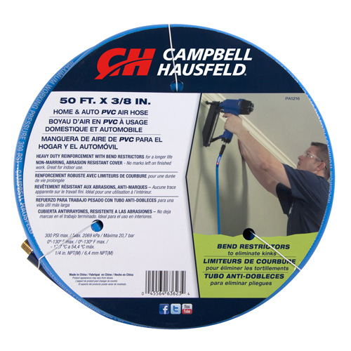 "3/8"" X 50' BLUE PVC AIR HOSE"