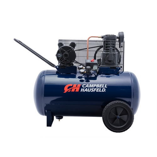 Air Compressor, 30-Gallon Horizontal Portable Single-Stage 10.2CFM 3.7HP 208-230V 1PH