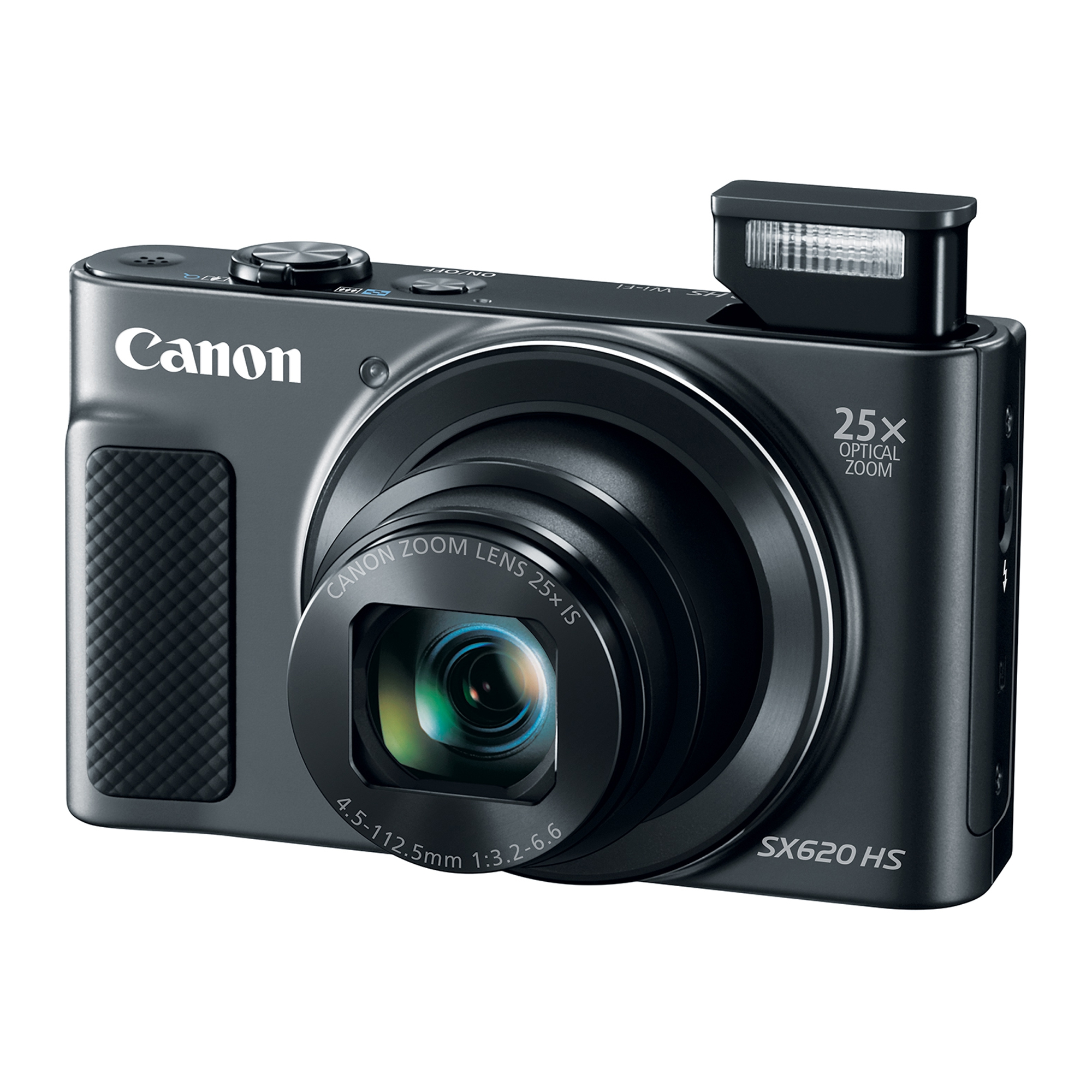 Canon PowerShot SX620 HS 20.2 Megapixel Digital Camera, 25x Optical Zoom, Wi-Fi, NFC, 1080p Full HD Video, 3-inch LCD - Black
