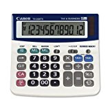 Canon TX-220TS 12-Digit Portable Solar and Battery Power Calculator with Adjustable Tilt Display