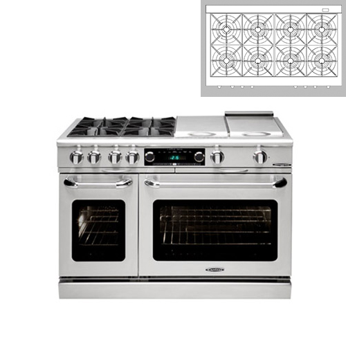 "Capital 48"" Dual Fuel 8 Burner Range NG"