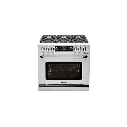 "Capital 36"" Dual Fuel 6 Burner Range NG"