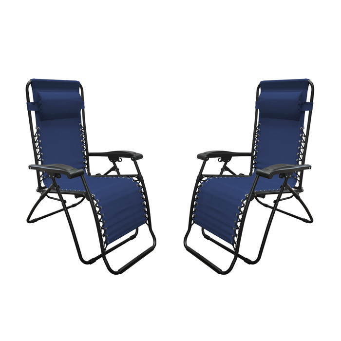 Infinity Zero Gravity Chair Blue (2pk)