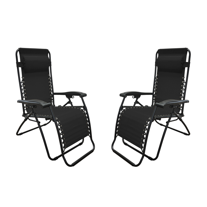 Infinity Zero Gravity Chair Black (2pk)