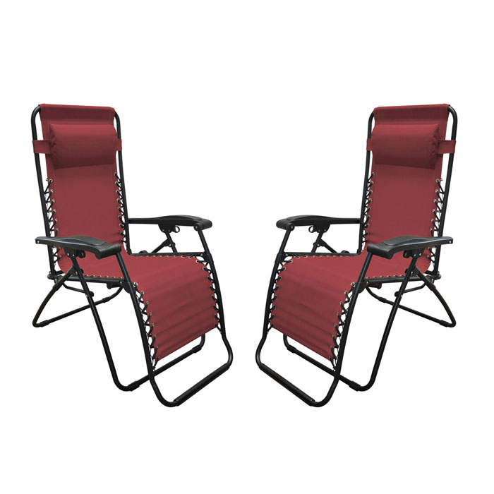 Infinity Zero Gravity Chair Burgundy (2pk)