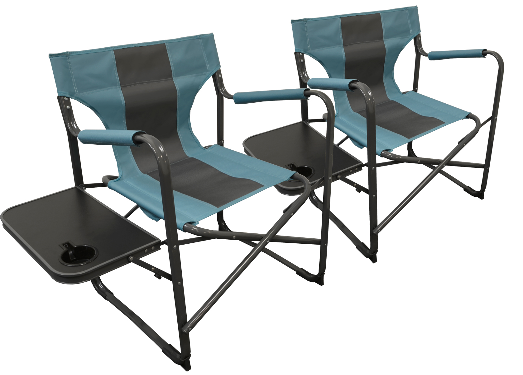 Elite Director's Folding Chair  Teal/Gray   2PACK