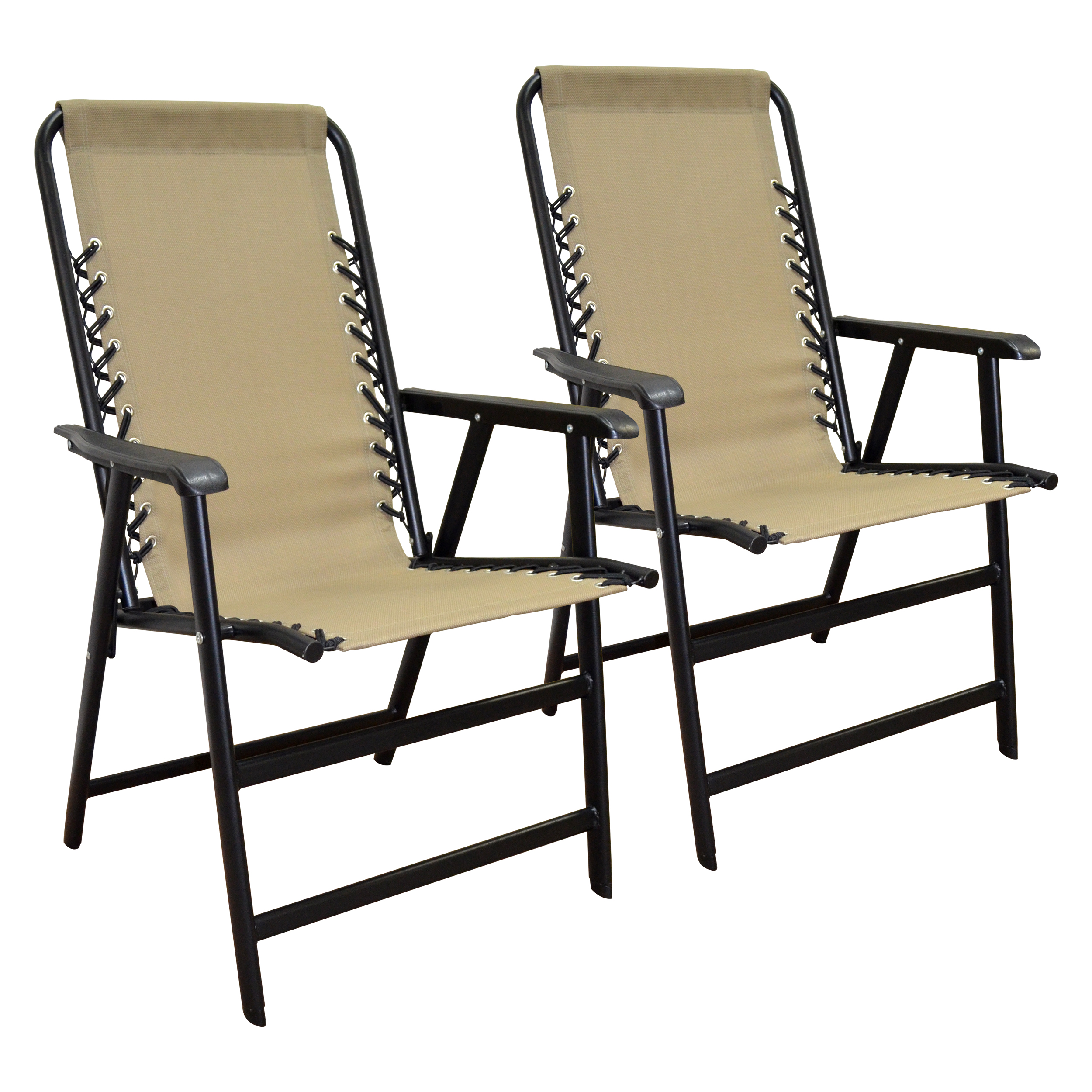 Suspension Folding chair Beige 2PACK