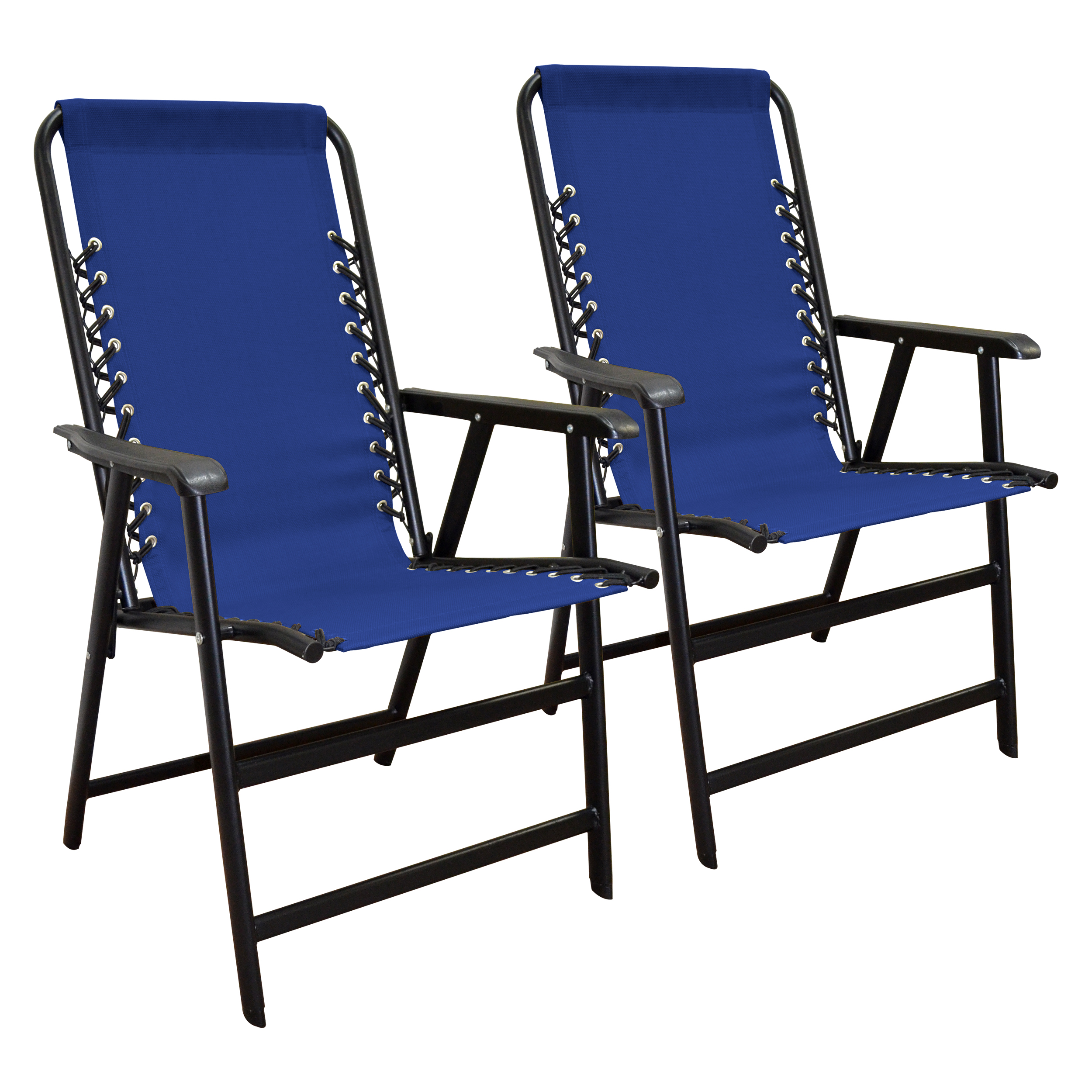 Suspension Folding chair Blue 2PACK