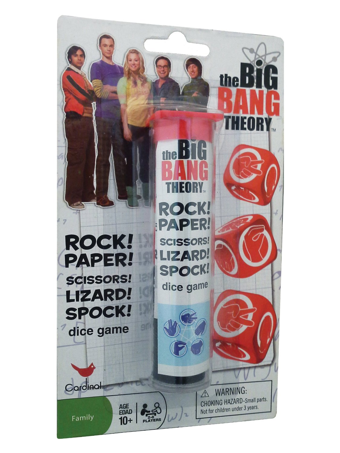 The Big Bang Theory Rock Paper Scissors Dice Game