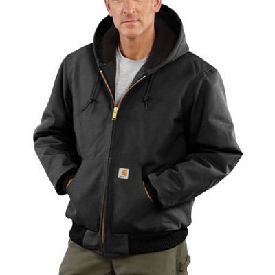 Carhartt� 2X Regular Black Flannel Quilt Body Nylon Quilt Sleeves Lined 12 Ounce Heavy Weight Cotton Duck Active Jacket With Fro