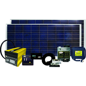 320 Watt / 18.3 Amp Solar Kit With Gp-Sw2000-12, Gp-Swr-B, Gp-Dc-Kit4, Gp-Ts, And Gpc-45-Max