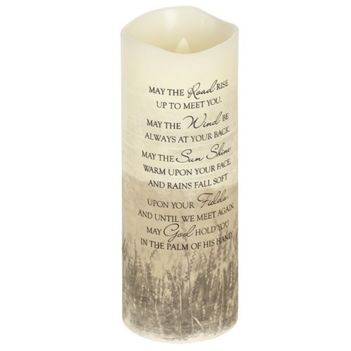 Everlasting Glow with Moving Wick - Irish Prayer