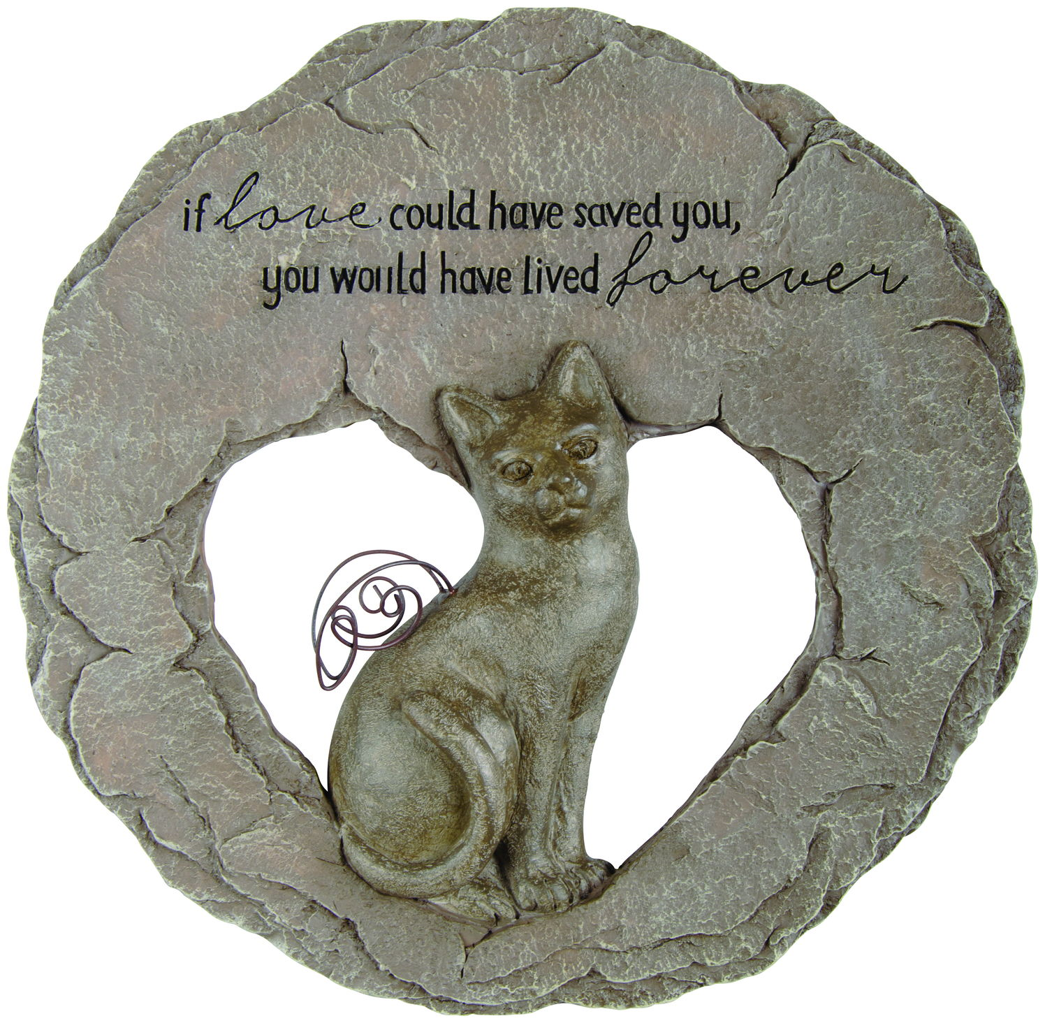 Cat Devoted Angel Stepping Stone