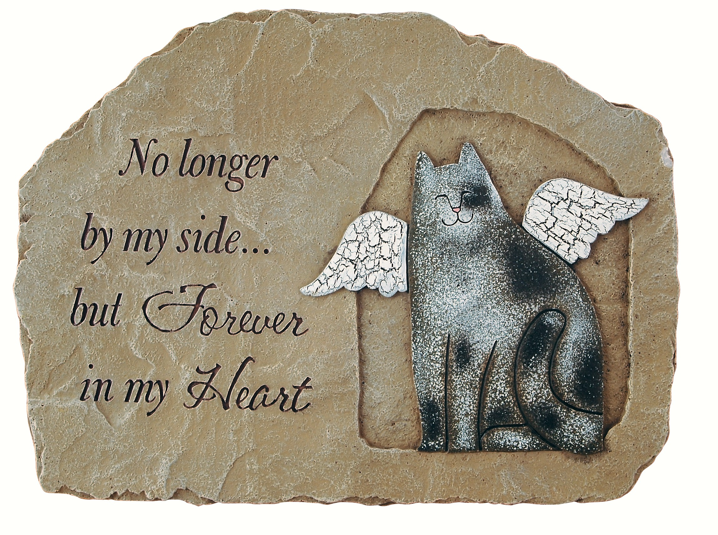 Whiskers & Tails Cat Memorial Garden Stone