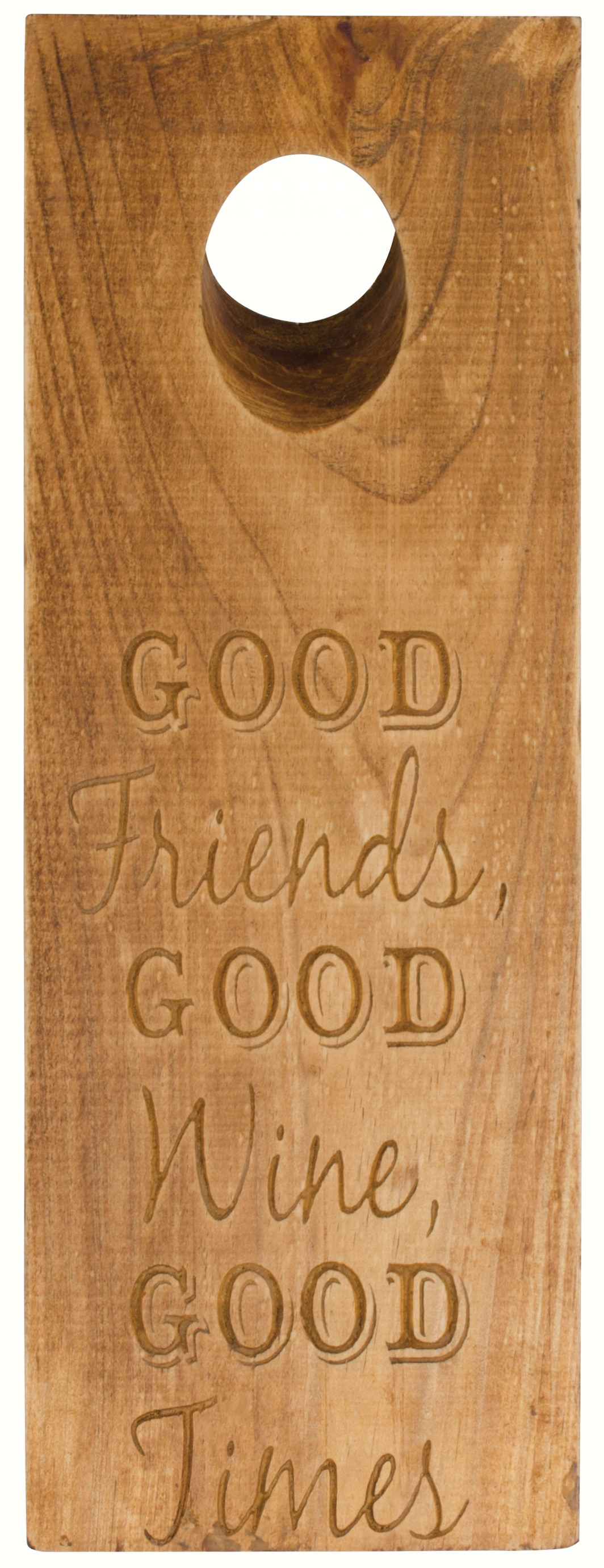 Good Friends, Good Wine, Good Times Gravity Wine Bottle Holder