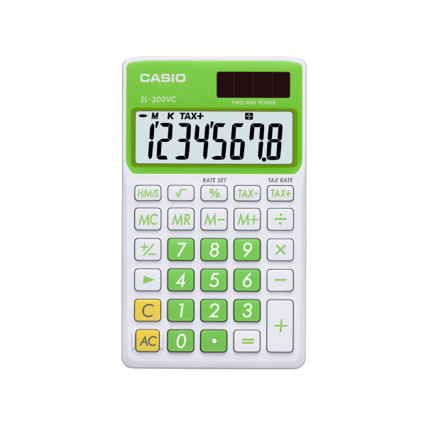 XLG Display Time Tax Calculator Green