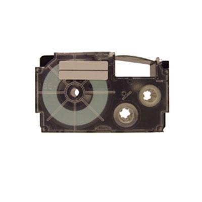 9mm Black Ink Silver Tape 2pk