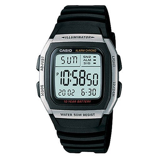 Casio Multi--function Alarm with Snooze Calendar LED Light with Afterglow 50M WR