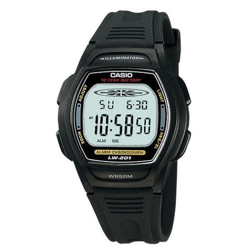Casio LW201 Ladies Digital Dual Time Watch
