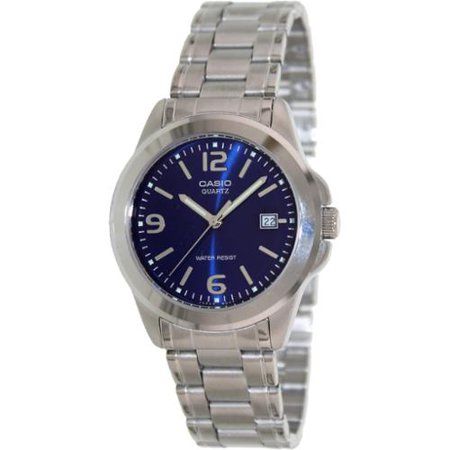 Casio 30 Meter Water Resistant Stainless Steel 3-Hand Analog Watch with Date
