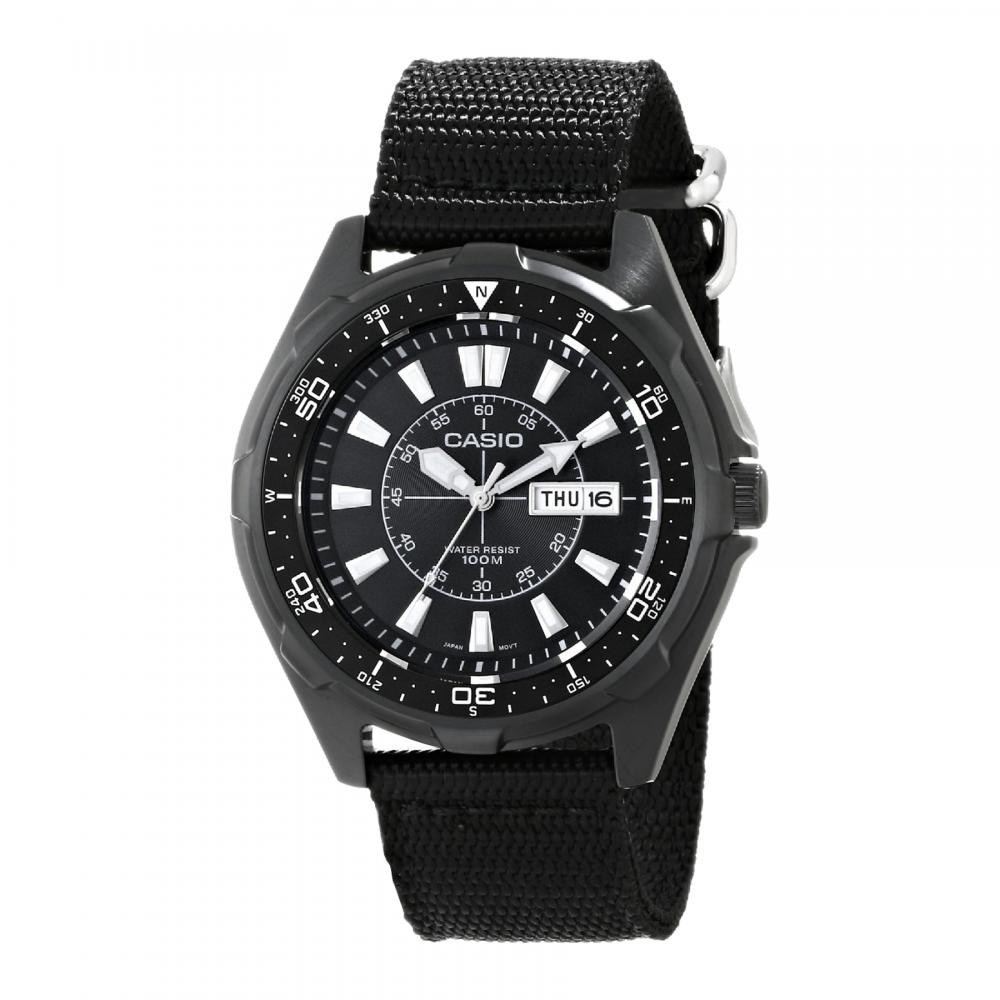 Casio Classic Stainless Steel Watch With Black Nylon Band