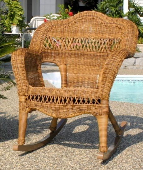 Sahara Rocker w/Bahama Breeze cushion - Walnut
