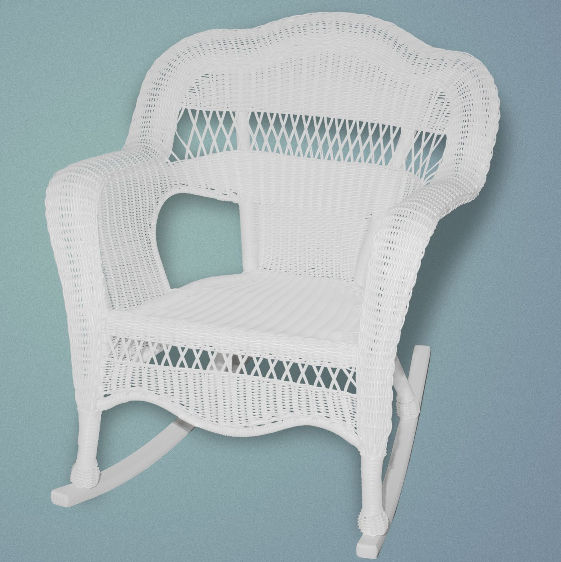 Sahara Rocker w/Hampton Bay cushion - White