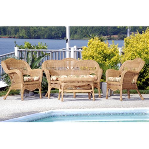 Sahara 4 pc Set w/Hampton Bay cushion - Walnut