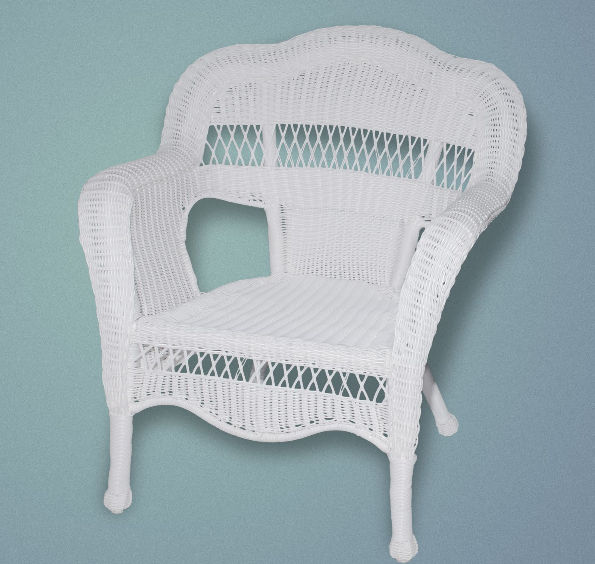 Sahara Arm Chair w/Rave Cholocate cushion - White