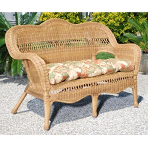 Sahara Love Seat w/Rave Cholocate cushion - Walnut