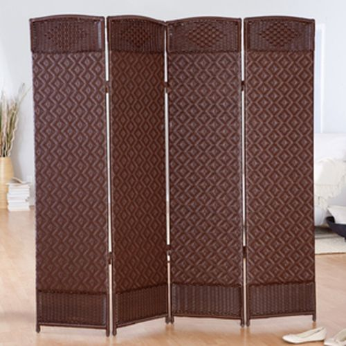 Margate Resin Room Divider 4 Panel, Cappuccino