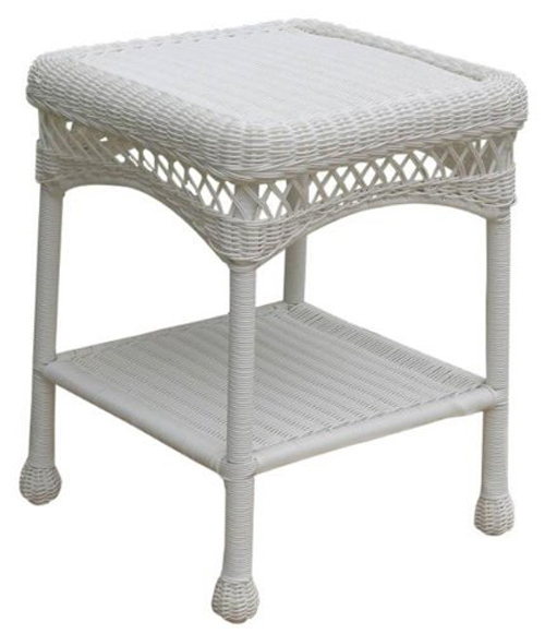 Sahara End Table - White