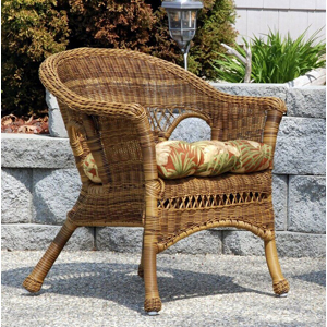 Grand Steel Armchair w/Bahama Breeze cushion - Walnut