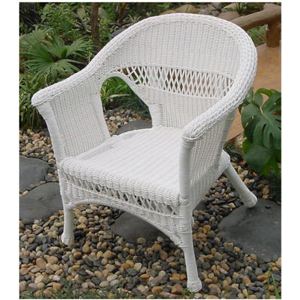 Grand Steel Armchair w/Hampton Bay cushion - White