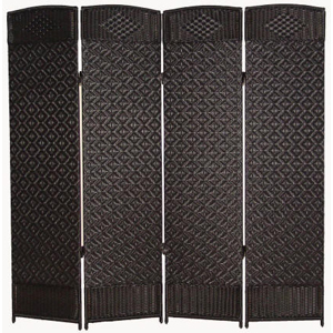 Margate Resin Room Divider 4 Panel, Black