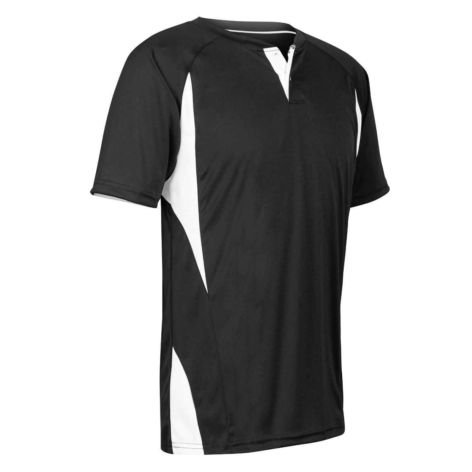 Champro Adult 2 Button Wild Card Jersey Black White Large