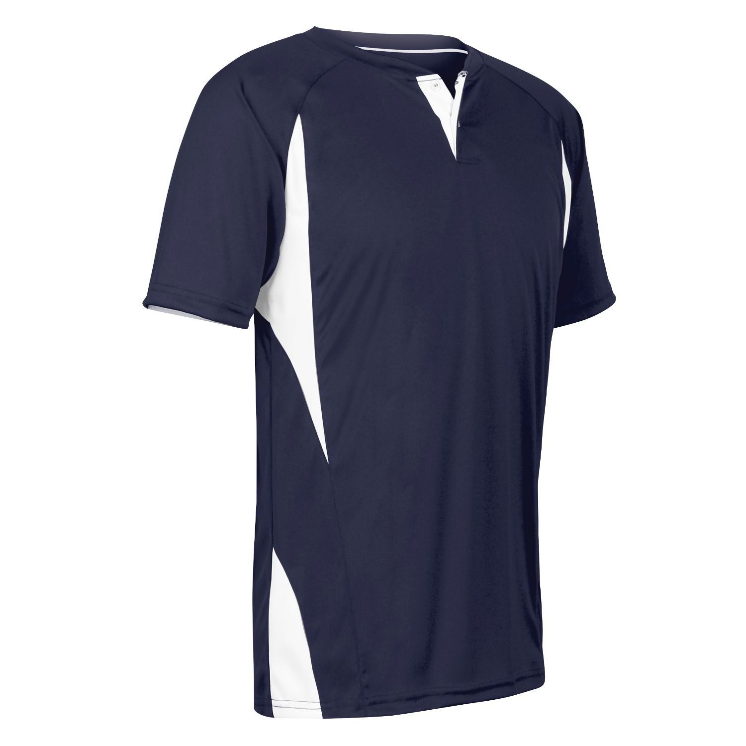 Champro Adult 2 Button Wild Card Jersey Navy White Small