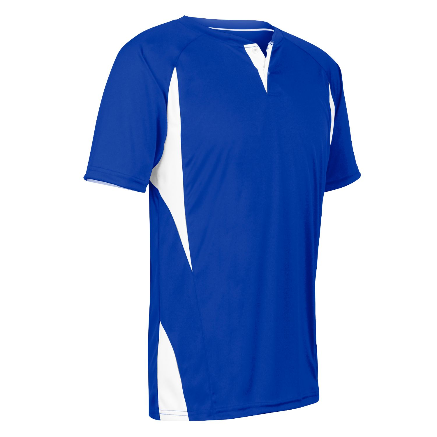 Champro Adult 2 Button Wild Card Jersey Royal Blue White MED