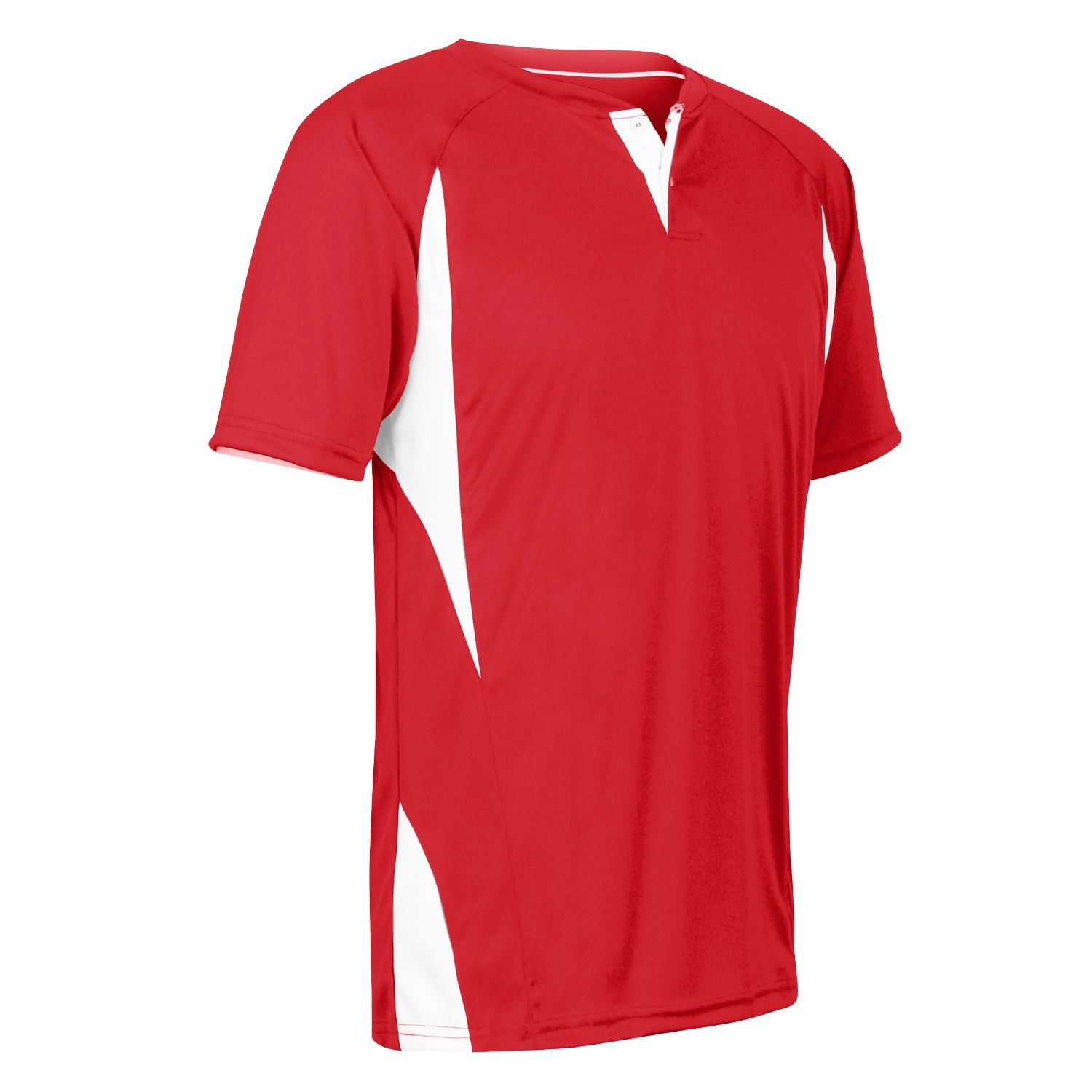 Champro Adult 2 Button Wild Card Jersey Scarlet White Small