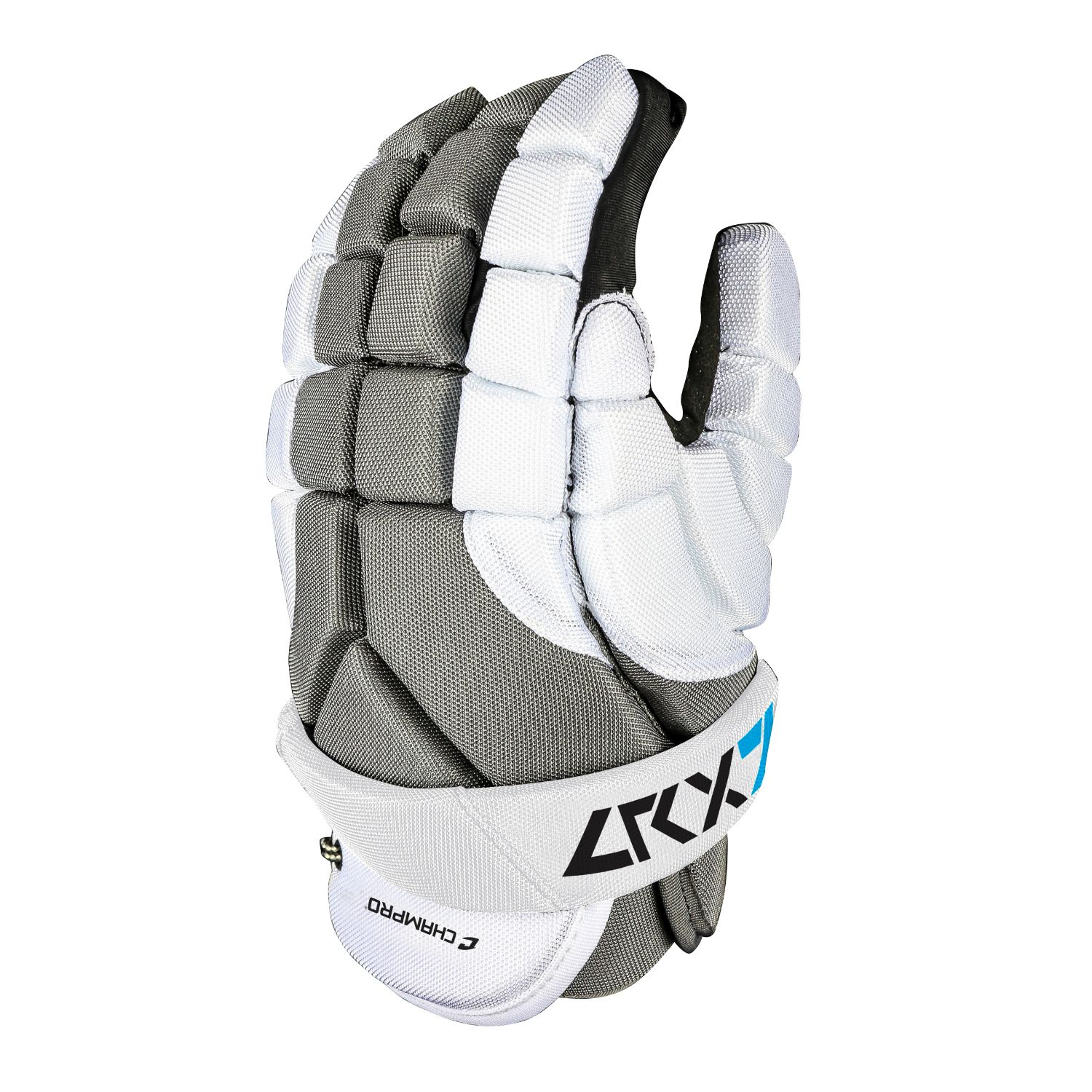 Champro LRX7 6 in Lacrosse Glove  Grey White Extra Small