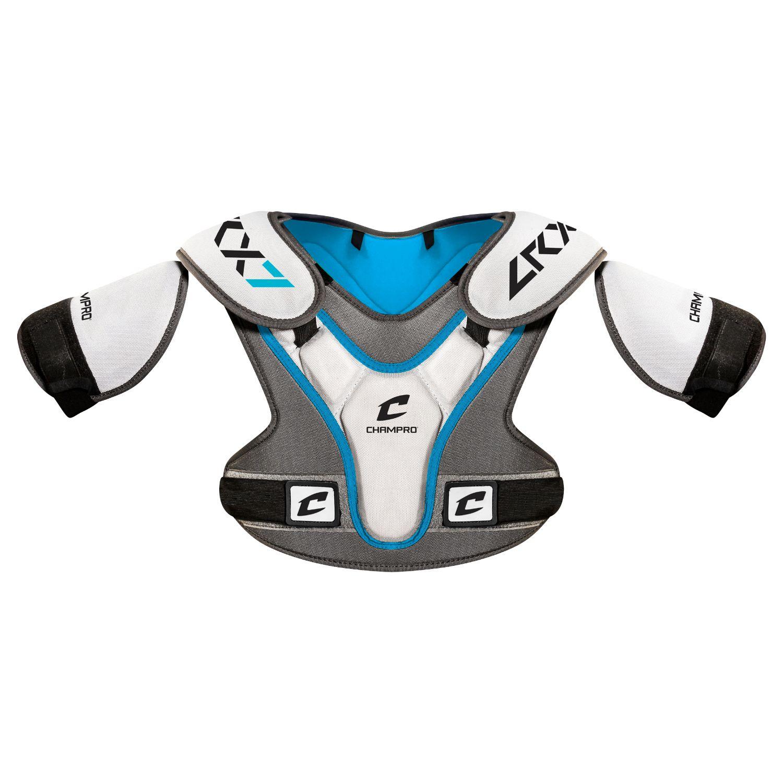 Champro LRX7 Lacrosse Shoulder Pad Grey Extra Small